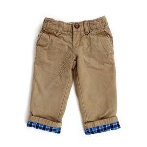 LANDS' END flannel lined pants, boy's size 2T